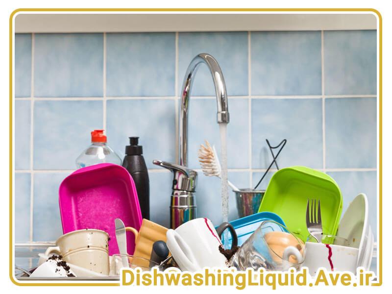 استفاده اولیه مایع ظرفشویی